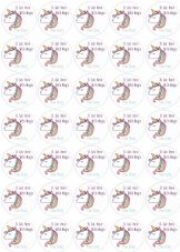 It Got Here With Magic - Unicorn Theme- 37mm Matt Paper Stickers (1)